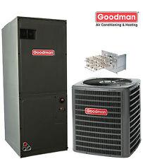 2.5 ton Goodman 13 seer R-410A heat pump system GSZ130301 / ARUF30C14