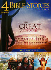 Bible Story Collection: 4 Movies, Vol. 1 (DVD, 2013) 10 COMMANDMENTS DAVID NEW!