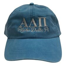 Alpha Delta Pi (S) Bright Blue with Gray Thread Baseball Hat ADPi