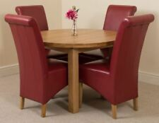 Wooden Oval Table & Chair Sets with 4 Seats