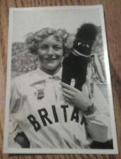 OLYMPIA 1936 PHOTO CARD RUTHLEY MORIS-HANCOCK