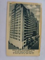 Vtg 1920's Beaux Arts Apartment Hotel 44th St, New York City NY Postcard, Unused
