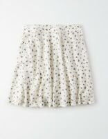 AMERICAN EAGLE OUTFITTERS High Waisted Floral Flowy Skirt Women's M White
