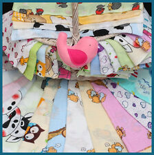 Set of 3 LARGE 70x80cm Muslin Squares 100% Cotton Cloths Napppies // Made in EU