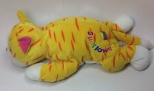 "1998 SUNFLOWER Lisa FRANK Rainbow TIGER Jumbo PLUSH Stuffed 23"" Styrofoam BEADS"
