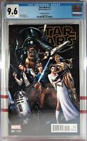 🌟 CGC 9.6 NM+ STAR WARS #1 CONNECTING VARIANT J. Scott Campbell MARVEL COMICS