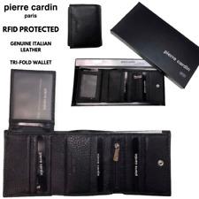 Pierre Cardin PC8783 Tri-Fold Leather Wallet - Black