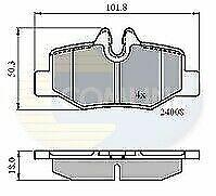 Comline CBP01306 Brake Pad Set FOR MERC BENZ VIANO VITO REAR