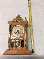 "8"" Tall Miniature Plastic Grandfather Electric Strike Clock Wall/Table Chimes"