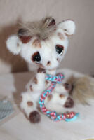 OOAK *** SMIFFY Giraffe by Delane Summerwood CUTE Artist Bear stuffed Miniature