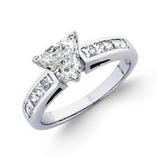 Diamond Engagement Ring 2.00 CTW Trillion & Princess Cut GIA Certified 18k Gold