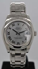 Rolex Datejust Mid-Size Masterpiece Pearlmaster Solid 18kt White Gold 81209