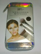 IT Cosmetics Your Contour Highlighting 2 Piece Brush Set - New