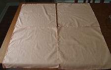 VINTAGE LINEN NAPKINS - SET OF 4 - SOLID PEACH COLORED  - VERY NICE !