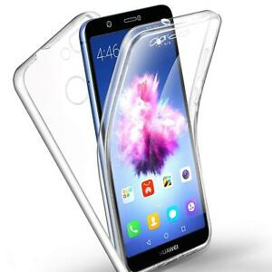 For Huawei P Smart 2017 FIG-LX1 New Clear 2 In 1 Front Back Full Body Phone Case