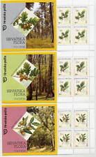 CROATIA 2002 Oak Trees booklets of 10 stamps MNH / **.  Michel 615-17