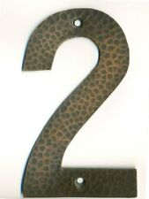 #2  Hammered copper house number. Craftsman/ Arts and Crafts. 6 inch high