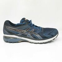 Asics Mens GT 2000 8 1011A690 Blue Black Running Shoes Lace Up Low Top Size 12