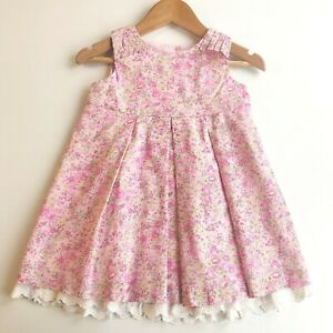 Bebe By Minihaha Floral Liberty Dress - Size 1 / 9-12 months (#C2764)
