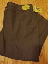 Lee Women Trouser Stretch Sz 22W Petite Made To Fit Adjustable Waist Retro Black