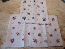 12 mouchoirs femme 100% coton tissées festonnés n°239