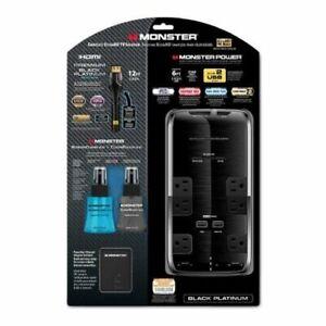 Monster Power Complete UltraHD TV Solution Black Platinum HDMI w/ LED #101649-00