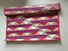 Brand New – Patterned red, purple, and cream large Floor Runner