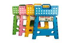 Heavy Duty Plastic Step Stool Foldable Multi Purpose Anti-Slip Home Kitchen Use