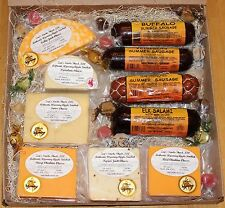 Zap's Apple Smoked Cheese, Elk Salami, Buffalo & Venison Summer Sausage Gift Box