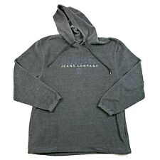 Nautica Jeans Company Hooded Pullover Sweatshirt Spell Out Mens Size L