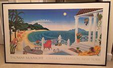 "Thomas McKnight EXTRA LARGE Framed Print 51.5 x 31.5"" Chalk & Vermillion Seaside"