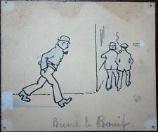 Gino BALDO (1884-1961) DESSIN de PRESSE ORIGINAL PARU 1915 BICARD dit le BOUIF 4