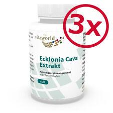 3 Pack Ecklonia Cava extract 50mg + Spirulina 360 Capsules Vita World Germany