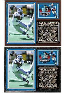 Barry Sanders #20 Detroit Lions Career Tribute Photo Card Plaque
