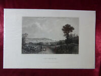 Antique engraving VIEW of COWES, FROM THE EAST, ISLE OF WIGHT c1830 Veduta print