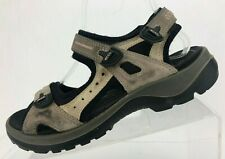 Ecco Receptor Sandals Offroad Lite Black Brown Hiking Shoes Womens 38 US 7/7.5
