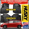 Husky Liners Weatherbeater Front & Rear Floor Mats fit 2009-2013 Honda Fit BLACK