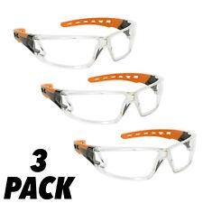 3pk Sealey Transparent en Polycarbonate Sécurité Verres Spectacles -