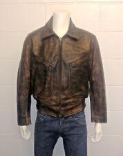 CHEVIGNON France 1970s Vintage 100% Cowhide Leather Jacket. Men's Size Large