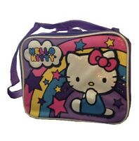 Hello Kitty Lunch Box purple insulated lunchbag shoulder tote bag