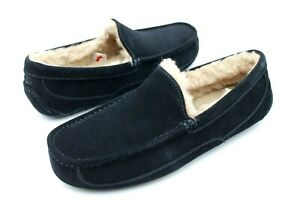 UGG MENS ASCOT TRUE NAVY COLOR SUEDE WOOL SLIPPER SHOE SIZE 10 US