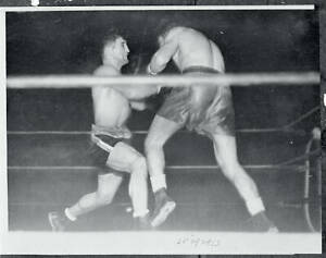Young Corbett And Bep Van Klaveren In Boxing Action 1935 OLD BOXING PHOTO