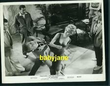 BRIGITTE BARDOT VINTAGE 8X10 PHOTO BUSTY FIGHT SCENE 1958 LA PARISIENNE