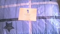 NEW Pottery Barn Kids BLUE Taylor STARS Twin QUILT & SHAM