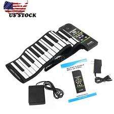 88 Key Electronic Piano Keyboard Silicon Flexible Roll Up+Loud Speaker Pedal Hot