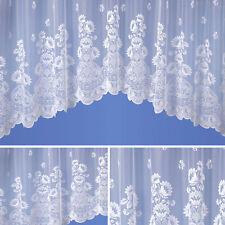 Naples Jardiniere Lace Net Curtain White