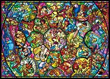 Tenyo Disney All Characters Stained Glass Jigsaw Puzzle (2000 Piece) From Japan