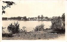 A77/ Wellston Michigan Real Photo RPPC Postcard c1930s Lake Homes 2