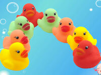 12x Mini Mix Color Rubber Squeaky Duck Ducky Baby Kids Children Bathing Bath Toy