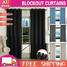 2x Blockout Curtains Blackout Curtain Draperies for Bedroom Living-2 Hanging way
